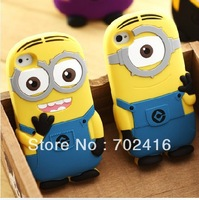 New arrival soft rubber Despicable Me minions case for iphone4 4s cell phone cases covers to iphone4 4S