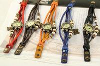 40pcs/lot Fashion retro bracelet watch Butterfly Pendant Girls Bracelet Watch Students retro fashion watch Christmas Gift