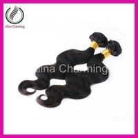 Hot beauty hair mixed lengths 2 pcs lot 100% 1b black human loose wave hair extension virgin Peruvian hair weft  Free shipping