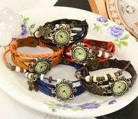 20pcs/lot Women's fashion retro bracelet watch Butterfly Pendant Girls Bracelet Watch Students fashion watch Christmas Gift