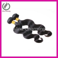 Best Selling Folks Indian virgin hair body wave 2 bundles lot remy hair weave, unprocessed natural color 1B, Free shipping