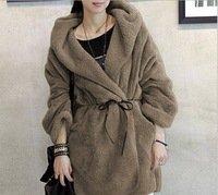 2013 New Fashion Simple Pure Color Warm Autumn & Winter Women's Coat Thicken hoodies Women Outerwear Big yards