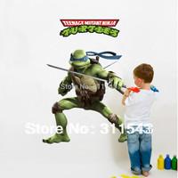 Kids cartoon Wall Stickers for Boys Room wall decal Teenage Mutant Ninja Turtles home Decals k004 Free Shipping