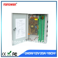18CH 240w 12v 20a AC to DC cctv power adapter, CE/Rohs/FCC/IEC & 2-year warranty