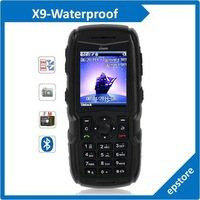 X9 2.0 inch Dual SIM Cell Phone Waterproof Dustproof Shockproof Quad Band FM Bluetooth Retail and Wholesale Free Shipping