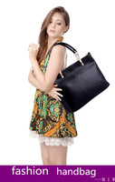 new 2013 women's genuine leather+pu leather big size solid  handbags shoulder bag bolsas brand designer high quality freeship