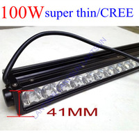 so thin 41MM only , 100W single  row  high power led off road light bars,10pcsX10W  OFFROAD LED light, LED WORK LIGHT  CREE! S10
