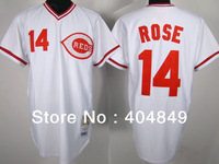 AA+ 14 multiple Pete Rose jersey,throwback reds home white gray green Split authentic,women youth custom baseball free shipping