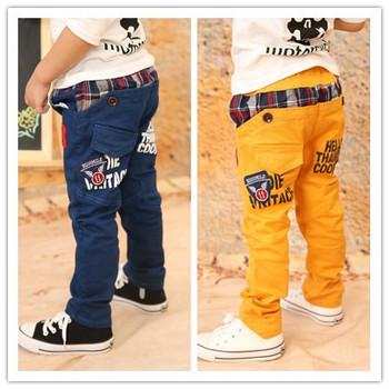 2014 Новые детские брюки для мальчиков Одетые в Корейский стиль моды весна и повседндневные брюки для малыша 3-8 лет