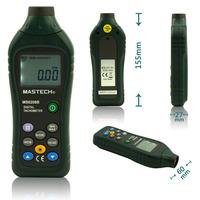 MASTECH MS6208B LCD Digital Laser Photo Tachometer RPM Meter Non contact Tacometro Rotation Speed 50RPM-99999RPM Data Storage