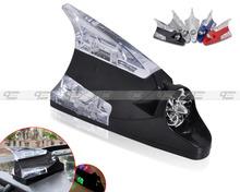 Free shipping & Tracking # Car Auto Wind Power LED Light Shark Fin Antenna Warning Flash Lamp Decoration - CA01507(China (Mainland))