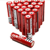 Send free DHL-1000PCSUltrafire 18650 Rechargeable Lithium lon 3000mAh battery protected for LED torch