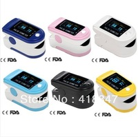 Wholesale FDA& CE CMS50D Fingertip Pulse Oximeter  OLED Display  Spo2 Monitor Blood Oxygen Sturation Monitor 6 COLORS Choice