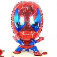 59*48cm 10pcs/lot spiderman shape cartoon foil balloons spiderman party supplies birthday party decoration spider man free ship
