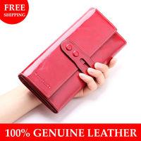 100% genuine leather women's wallets cowhide wallet for women Clutch Long designer multi-card wallet holder women leather purses