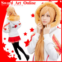 2014 new Cosplay Sword art online Asuna Costumes Woman cartoon hoodie sweater Cotton High Quality Free Shipping