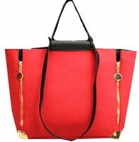women's red handbag set black scrub big mother bags 2014 spring  summer fashion messenger bag brand designer one piece retail