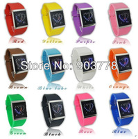 1pc/lot Freeshipping new arrive hot sale New fashion double heart man LED watch, silicone  band,digital movement