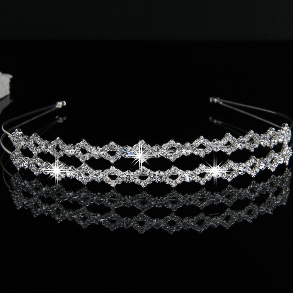 Free shipping Silver Plated Crystal Wedding Bride Bridal Headband Tiara Hair Band Prom 2014 new