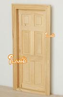 iland 1:12 DOLLHOUSE HOUSEWORK WOODEN INTERIOR DOOR 6 PANEL