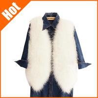 women's luxurious Faux Fur Vest Jacket fashion 16 colors new high quality 2014 warm fur coat