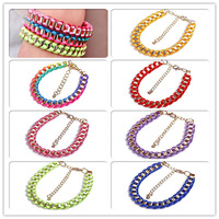 Minimum Order $20 (mixed order)  Shipping Fashion accessories bohemia punk geometry multi-colored divisa knitted bracelet