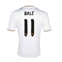 Free shipping! 2014 Real Madrid home fans supplies selling short-sleeved  soccer jersey number printed on white suit 11 BALE