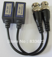 Coax CAT5 To Camera CCTV BNC UTP Video Balun Connector Adapter BNC Plug For CCTV System(207A)