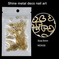 200pcs/lot Heart Design Decals Metal Sticker Metallic Sticker
