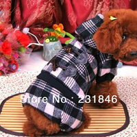 1 pcs Fashion Pet Dog Cat Apparel Clothes Warm Coat Puppy Plaid Hoodie Winter Costume Dress ALL Size XS S M L XL