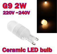 VOLUX G9 Ceramic 2W 24SMD3014 Warm White Light Ceramic LED Ball Bulb (85V~265V)