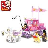 Enlighten Child M38-B0250 the Royal Carriage 137 pcs Compatible With Ligo Assembles Particles Block