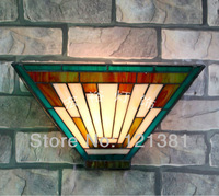 Tiffany Wall Lamp Mission Style Hand Crafted Lighting Fixtures Stained Glass Lampshade Unique Design Wall Scones