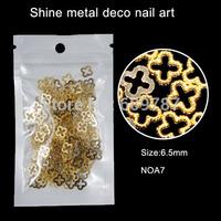 200pcs/lot 6.5mm gold flower metal rims nail decoration,fashional outlooking nail art decorations