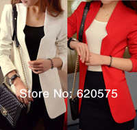 2014 slim small suit jacket female spring and autumn women's medium-long casual blazer Office Lady Suit in Solid Colors NZH009