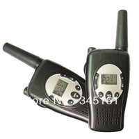 Free shipping PMR/FRS~New wind-up walkie talkie Crank dynamo talkie walkies with blue led flashlight up to 5km+CE/ROHS approval