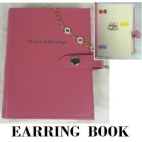 2014 New Portable Stud Earring Jewelry Box in Book Shape Display