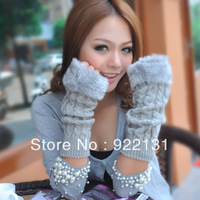 Free Shipping Holiday Sale Women Arm Warmer Faux Fur Fingerless Gloves 5 Colors