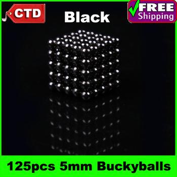 Black 125pcs Diameter 5mm Neocube Magic Cube Magnetic Balls Buckyballs