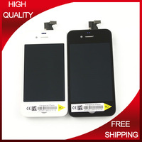 12pcs/lot Special Quality Touch Screen Frame With Display Digitizer Assembly for iPhone 4 lcd Screen Protector Front Back