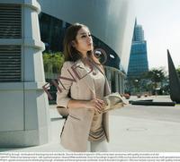4pcs/lot promotion Women's Sexy Stylish Slim Leopard Chiffon Splicing Suit Blazer Outerwear Coat 2 Colors 3 Sizes 18477