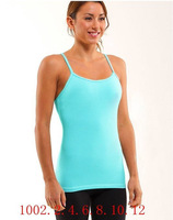 Selling brand women Lululemon yoga tank tops casual cotton candy color sexy sportswear fitness yoga CAMIS vest, free shipping