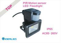 LED Floodlight with PIR Motion sensor Induction COB LED Landscape Lighting free shipping
