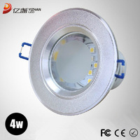 Free shipping 2pcs/lot! 2013 new designer smd3528 4w led recessed ceiling downlights lamps Cool/Warm white down lights for home