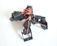 Aluminium Robot Beast Mount Kit 9DOF Four Legg   for Arduino Compatible without servos