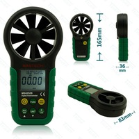 MASTECH MS6252B Digital Anemometer & Sensor Air Wind Speed Velocity Meter USB Interface