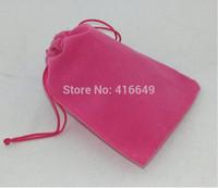 Free Shipping,100pcs/Lot 12*10cm Pink elvet Drawstring Organza Pouch Bag/Jewelry Bag,Christmas/Wedding Gift Bag
