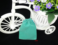 Free Shipping,100pcs/Lot 8*10cm Green Retail Jewelry Velvet Gift Packaging Drawstring Bags & Pouches ,Christmas/Wedding Gift Bag