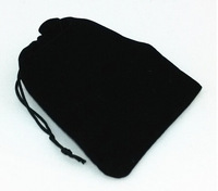 Free Shipping wholesale 12*10cm Black 100pcs/Lot Velvet Wedding Jewelry Packaging Pouches,Nice Gift Bags