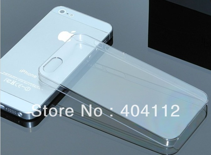 Cheap Price Hard Plastic clear crystal transparent back cover cases for iphone 5 5G 5S + 10pc touch pen(China (Mainland))